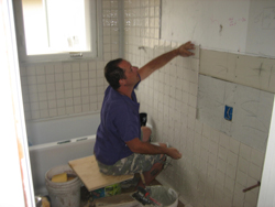 Doing some tile